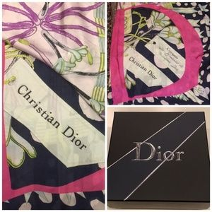 Christian Dior giant silk blanket scarf good shape